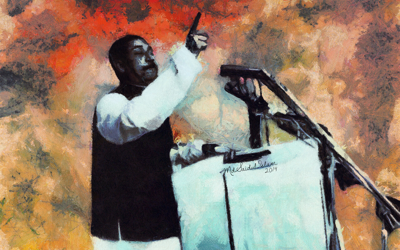 The Historic Speech of Bangabandhu Sheikh Mujibur Rahman on 7th March 1971  License: Creative Commons Attribution-Noncommercial-No Derivative Works 3.0 License