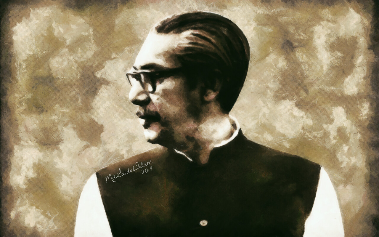 Bangabandhu: the central political figure in the struggle for independence in Bangladesh  License: Creative Commons Attribution-Noncommercial-No Derivative Works 3.0 License