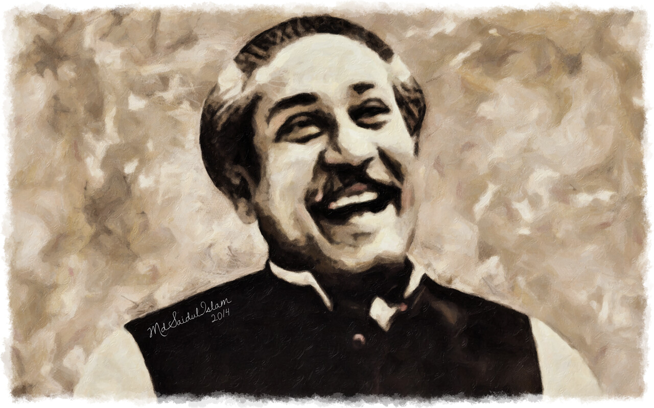 Bangabandhu Sheikh Mujibur Rahman - a symbol of hope and a sign of freedom  License: Creative Commons Attribution-Noncommercial-No Derivative Works 3.0 License