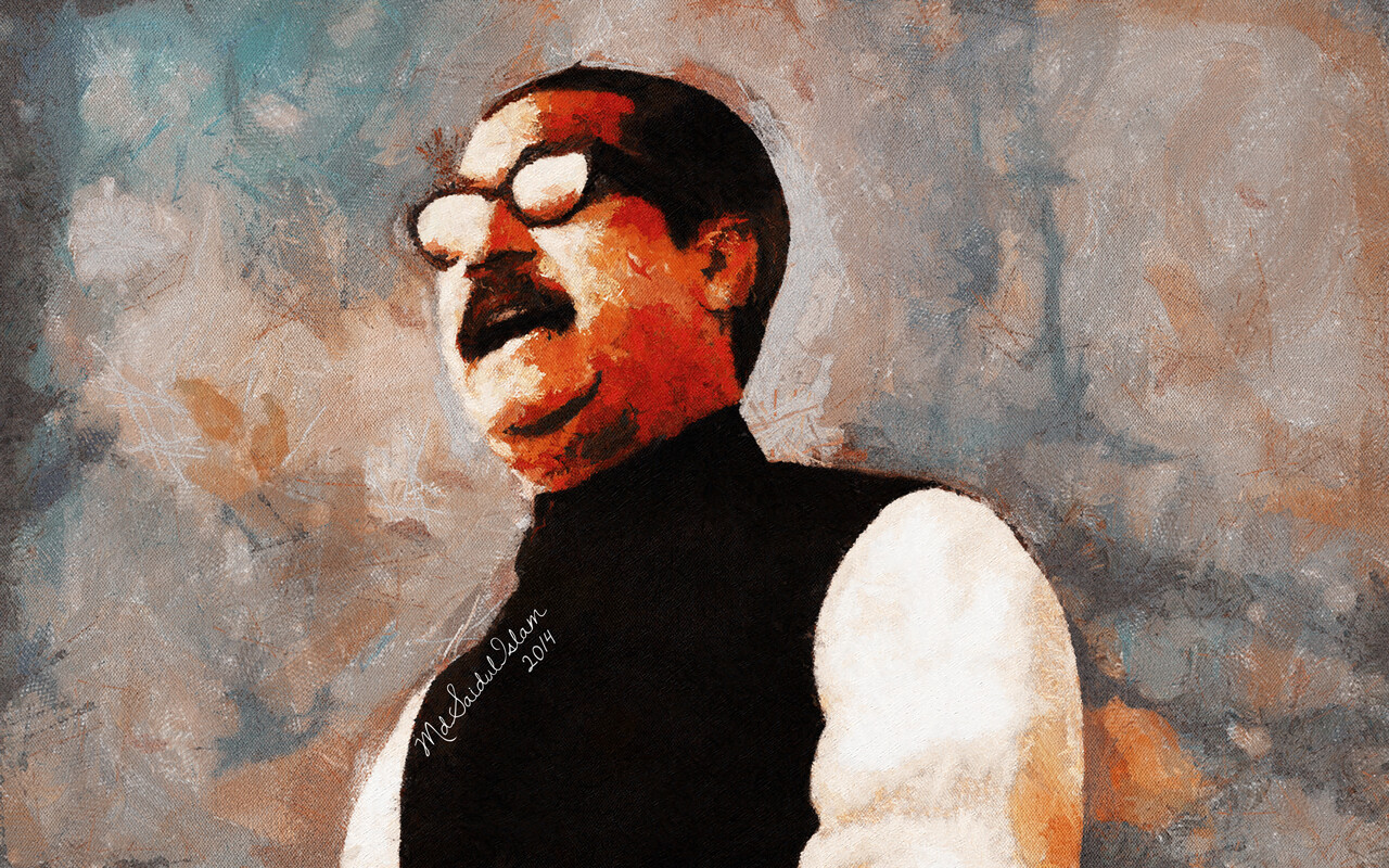 Bangabandhu Sheikh Mujibur Rahman whose greatest strength was the love for his people  License: Creative Commons Attribution-Noncommercial-No Derivative Works 3.0 License