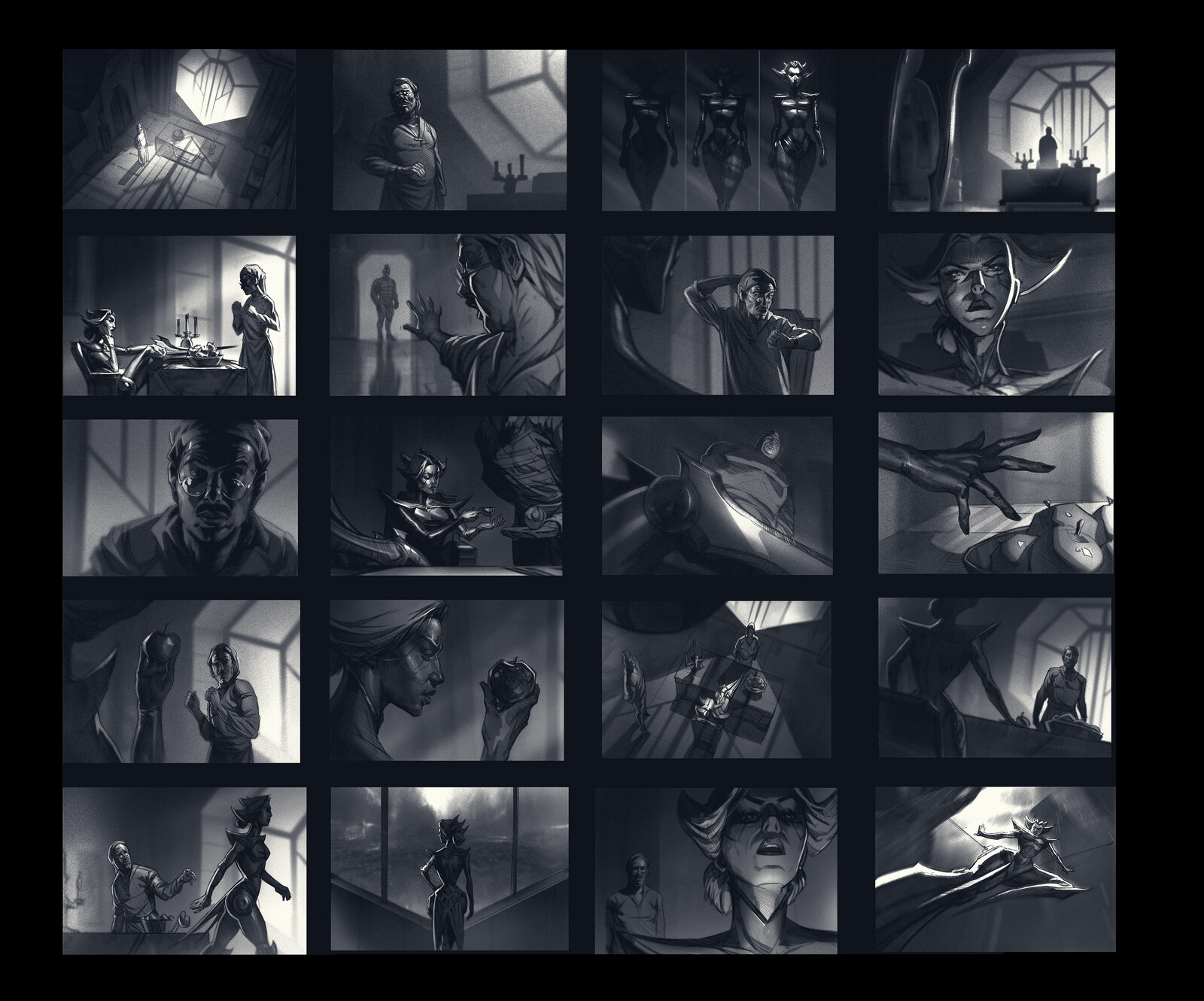 League storyboards