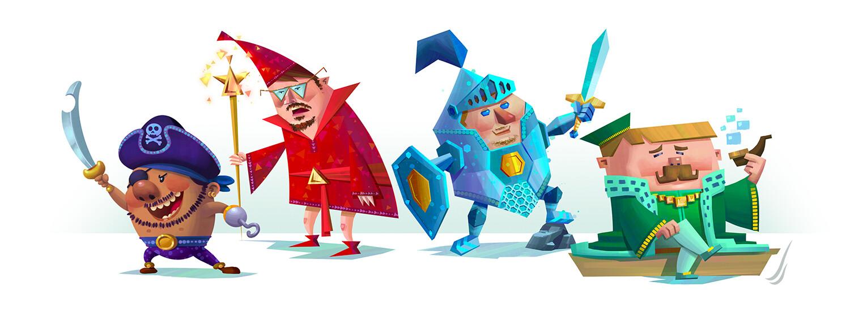 Fantasy Geometric Characters