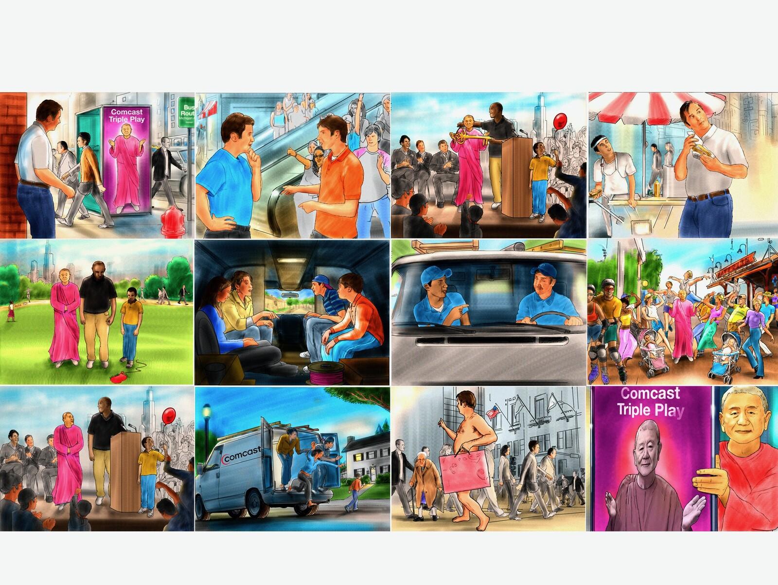 Comcast Chi Storyboard.
