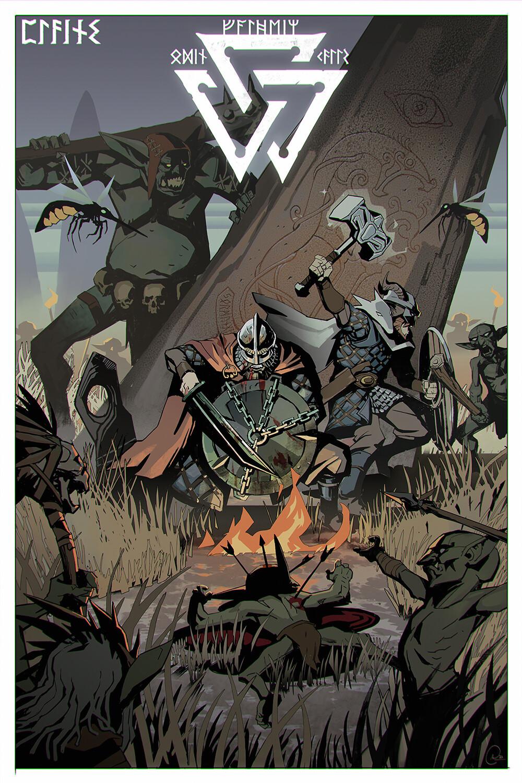 Valheim Poster - Fanart - Plains