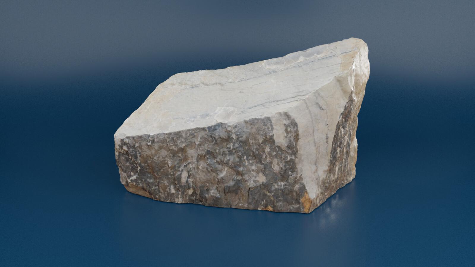 Photo scanned rock from the tutorial. https://artstn.co/m/jnpd