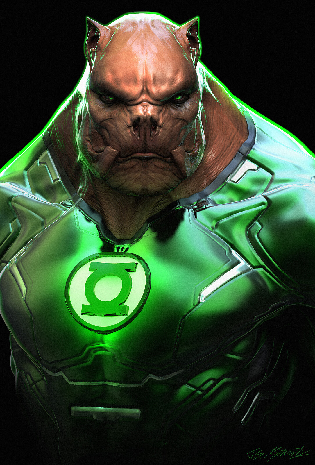 Kilowog Design for Zack Snyders Justice League