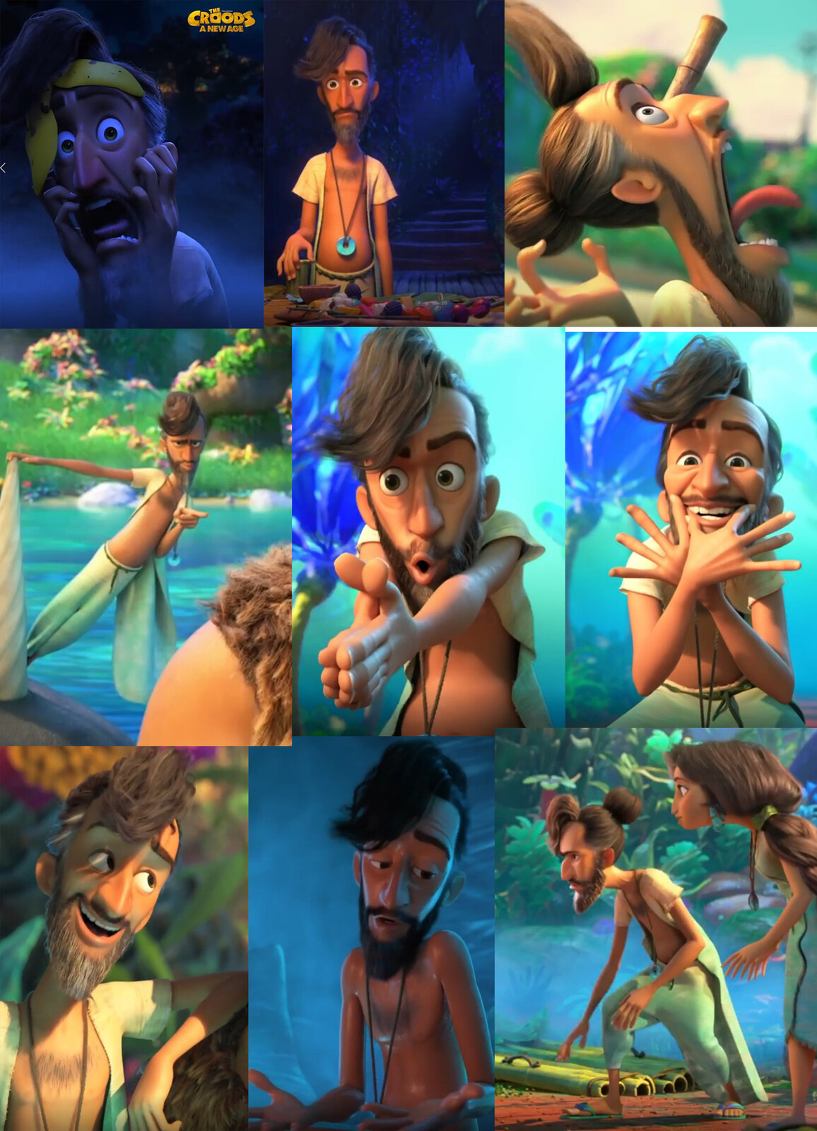 I worked on the model. all other aspects were done by the amazing Croods new age team at Dreamworks Animation.