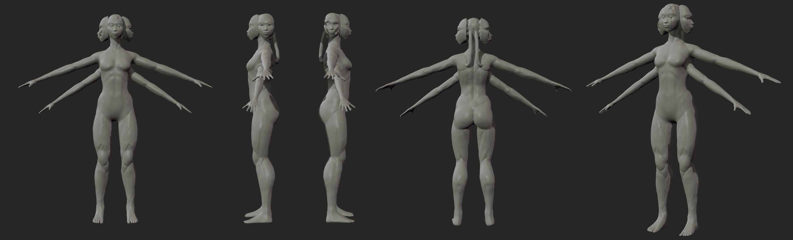 character sculpt process shot