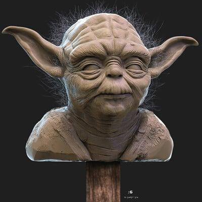 Surajit sen yoda digital sculpture surajitsen april2021a l