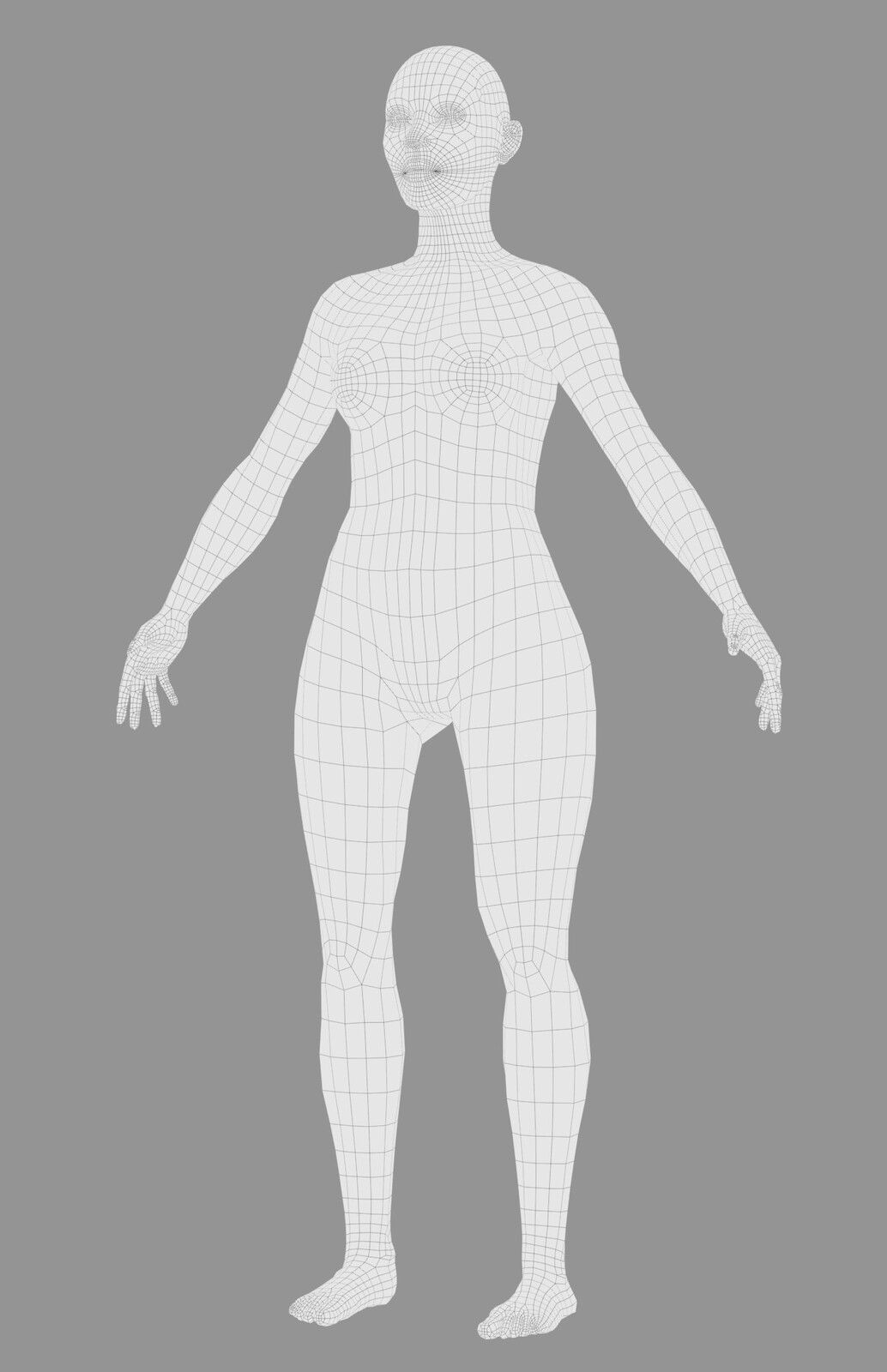 Practiced retopology on the skin, even though this is not a production character, but a concept character.