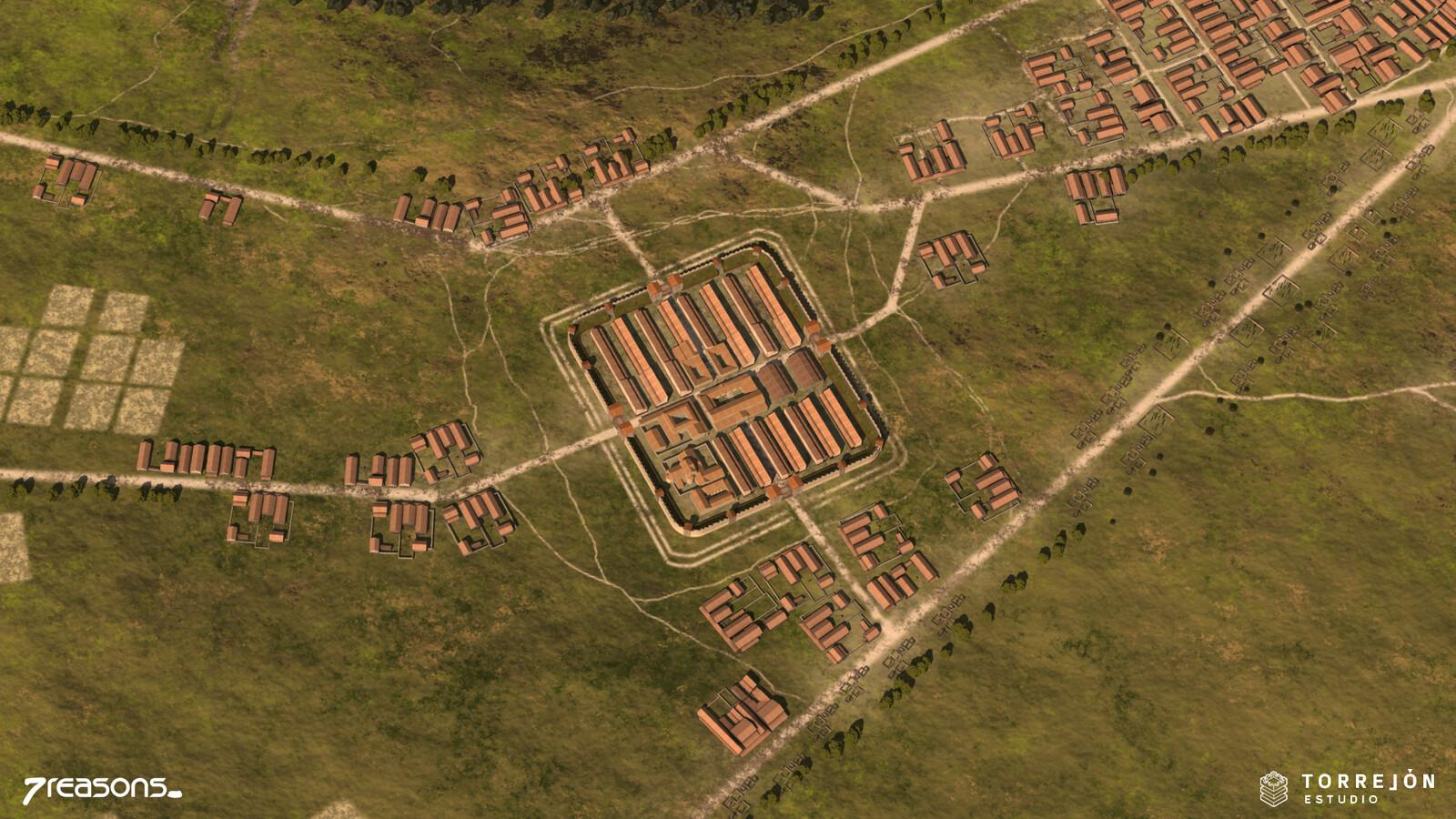 Carnuntum - Auxiliary Fort 3D visualisation