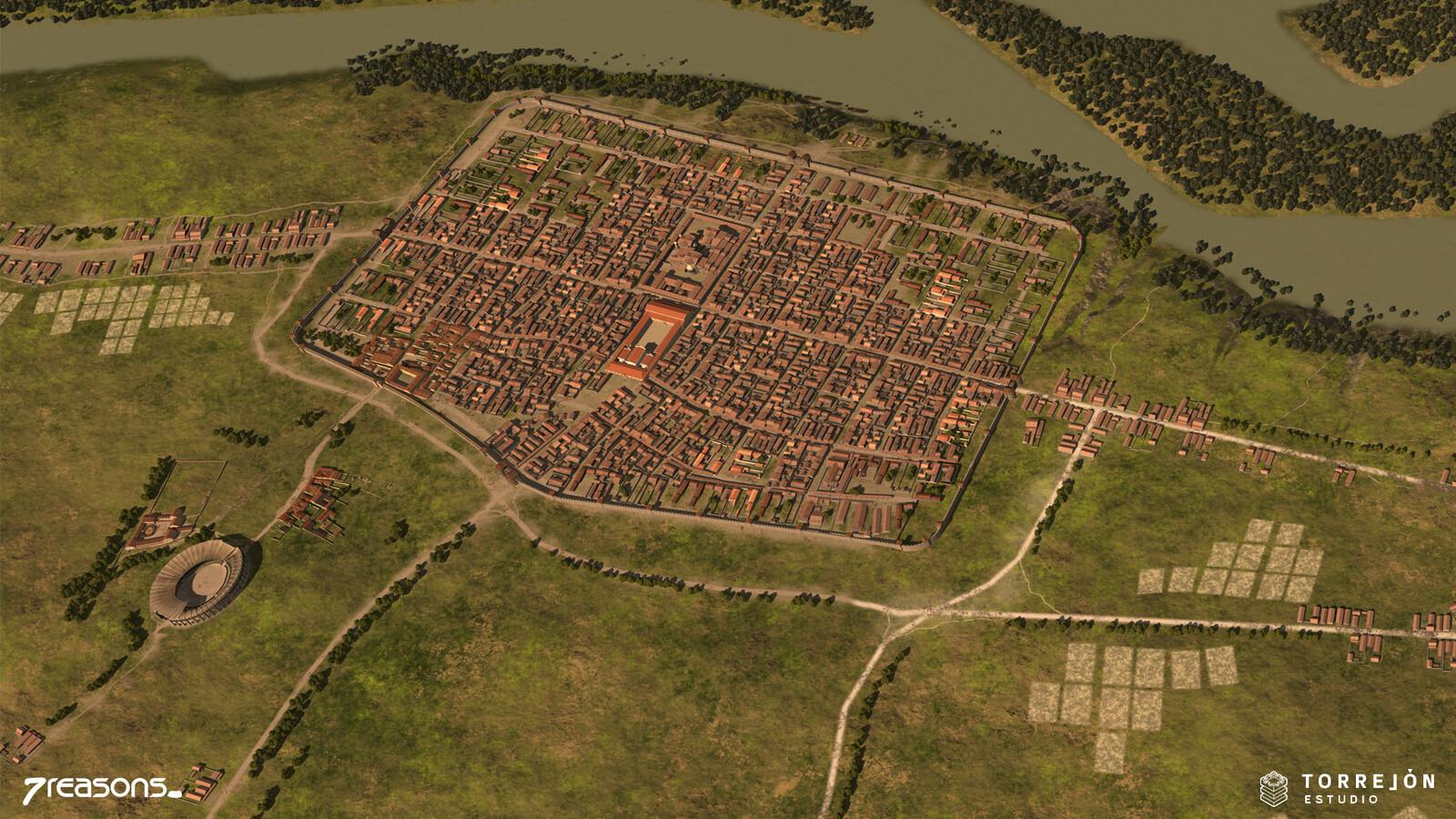 Carnuntum - Civil town 3D visualisation