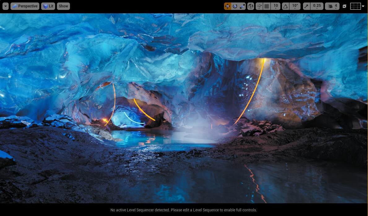 the ice cave in unreal engine