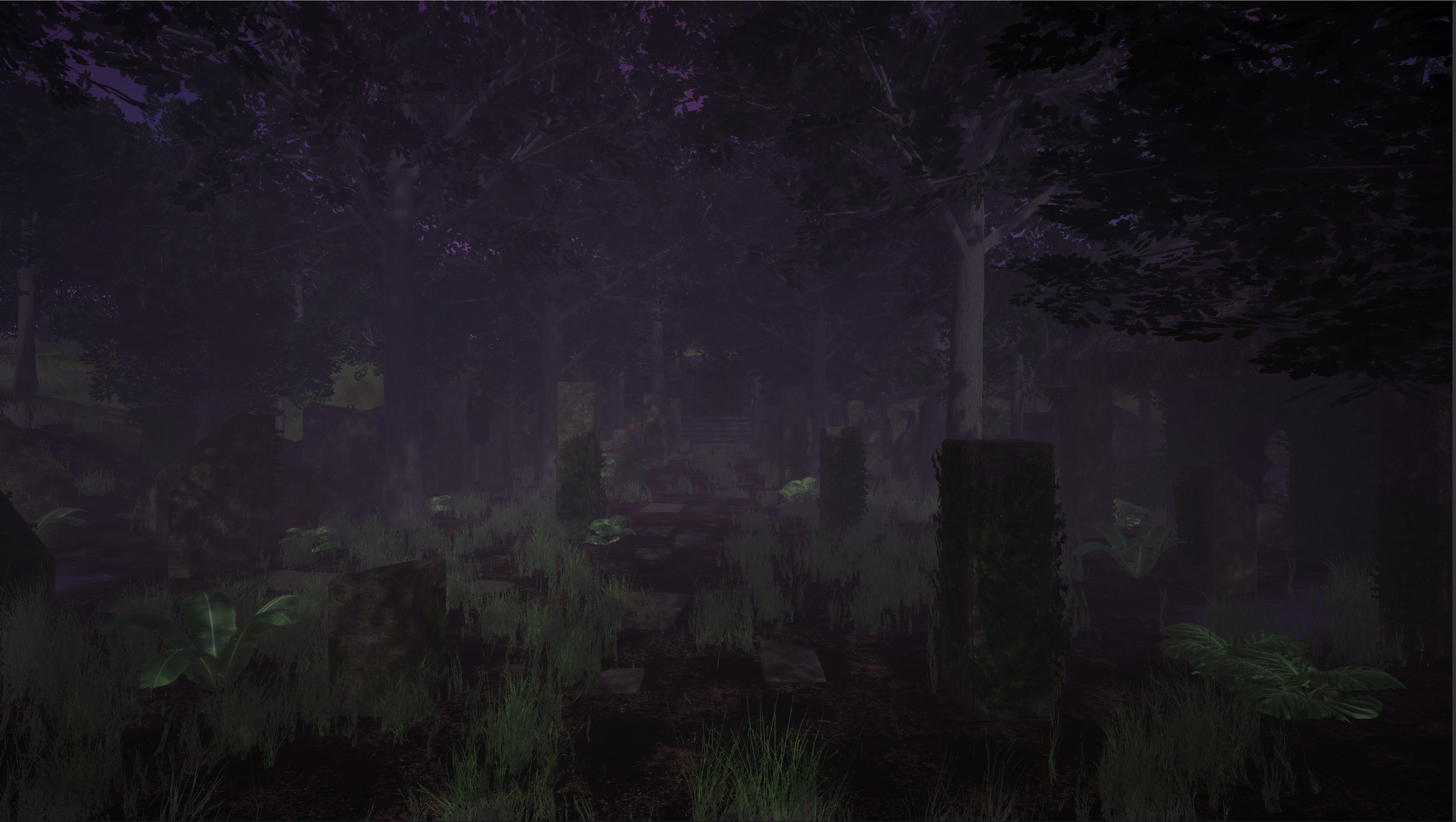 Ruins - I created the foliage except for the grass asset. I created the plants in Speedtree.