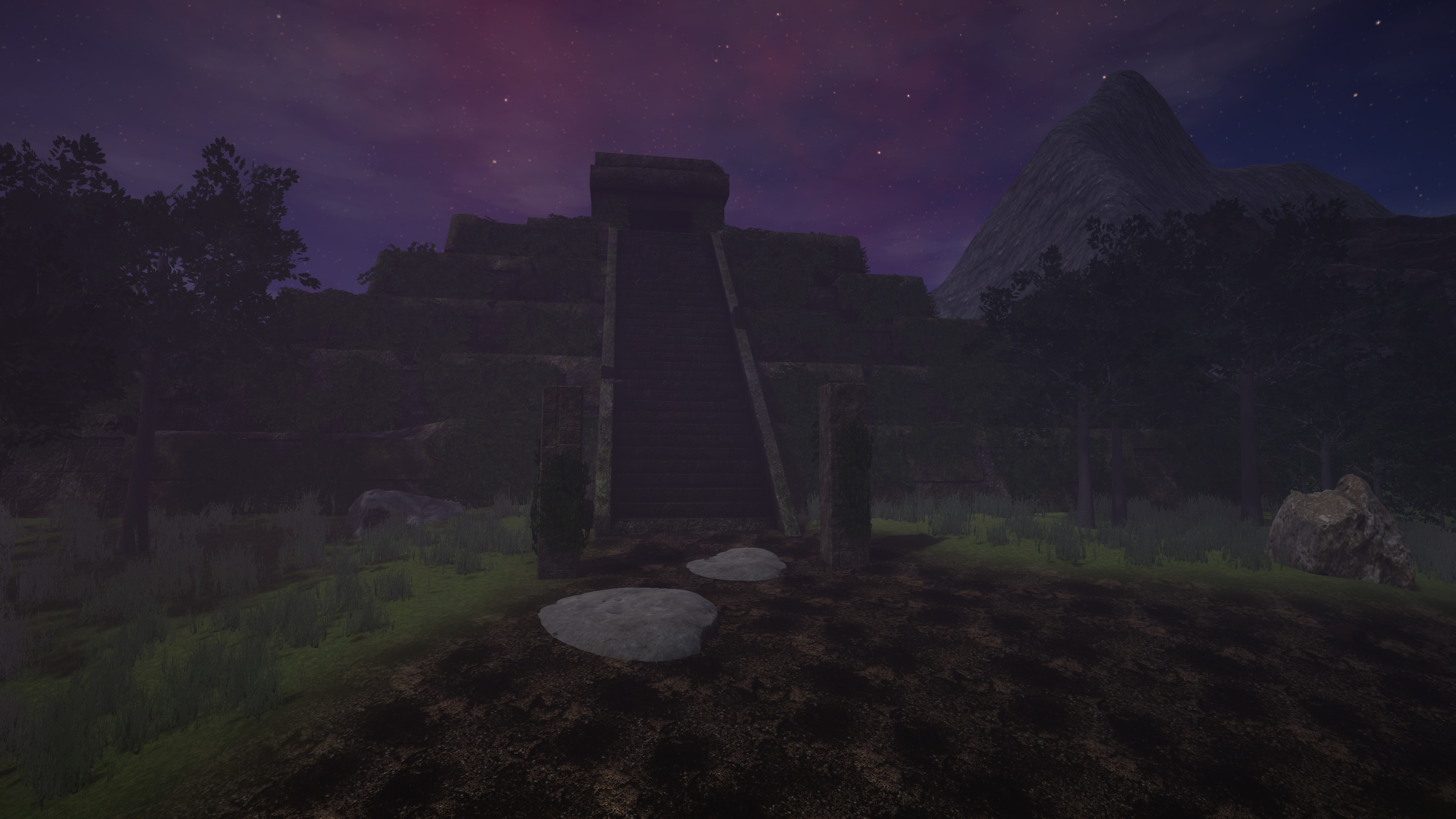 The Temple - the centerpiece of the island.