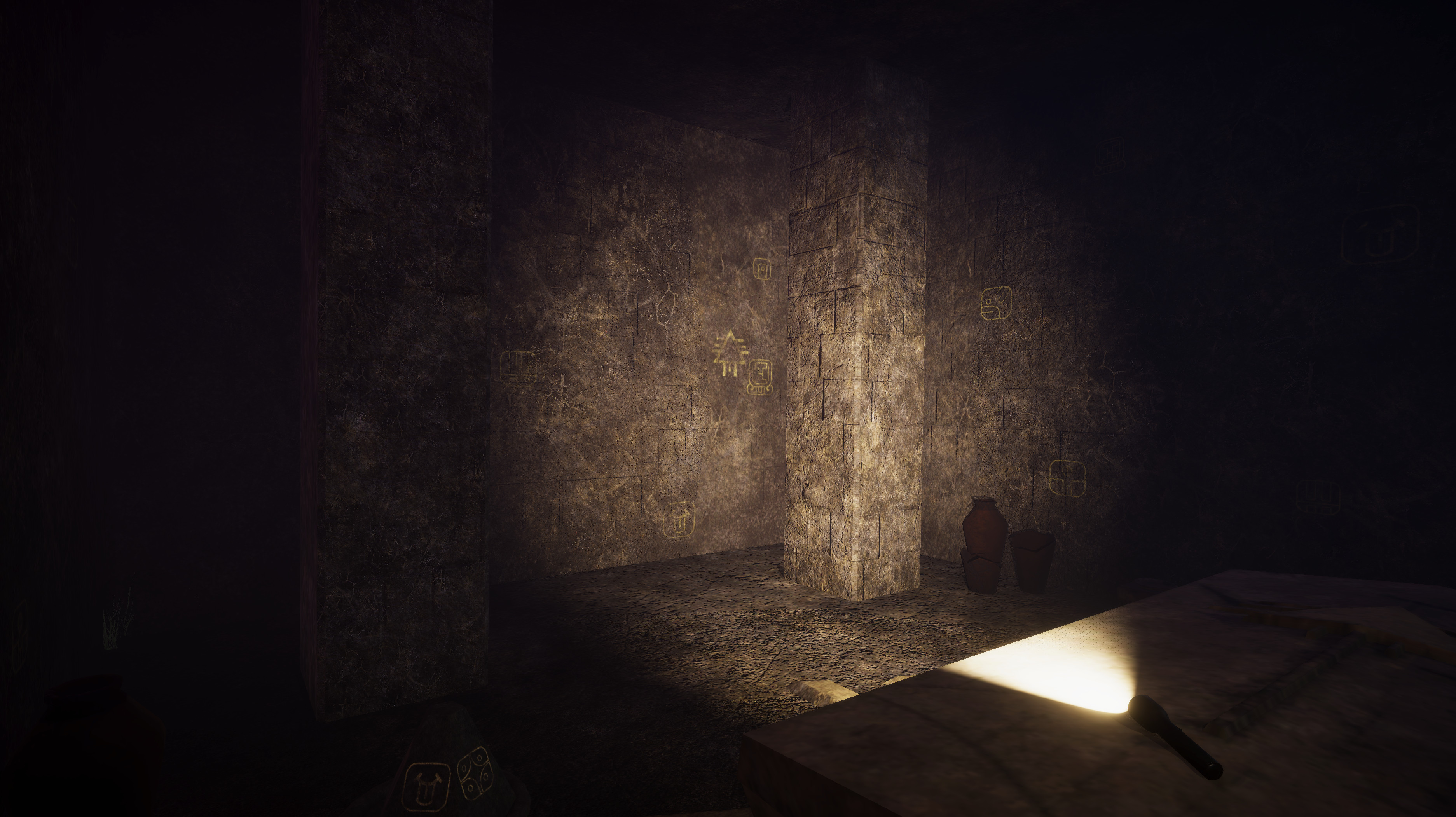 Inside the mausoleum.