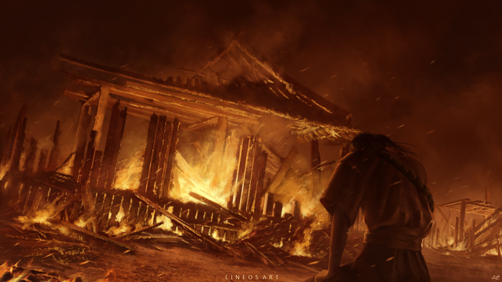 ArtStation   Burning House, Neil Padaloy