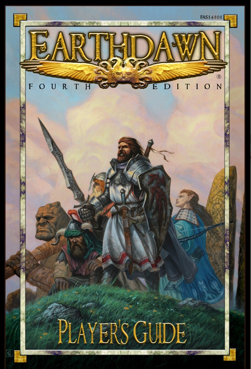 """"""" Earthdawn"""", Milivoj Ćeran 2014. left third of the painting, cover for """"Earthdawn 4, Player's Guide"""" © FASA Games"""