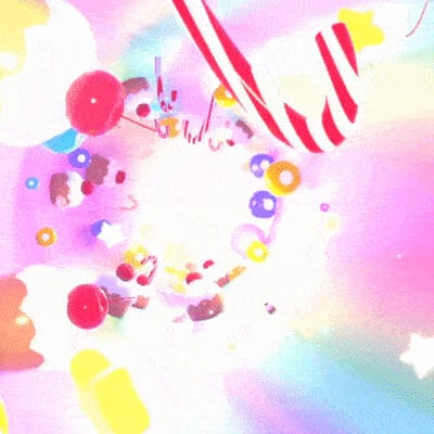 Judy kao artstation tykcartoon gif candy land tunnel
