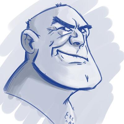 Shaun lindow portrait sketch