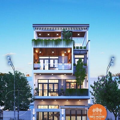 Neohouse architecture mau nha ong mat tien rong 8m 1