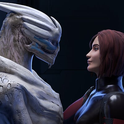 Ark/Angel - Garrus and Shepard