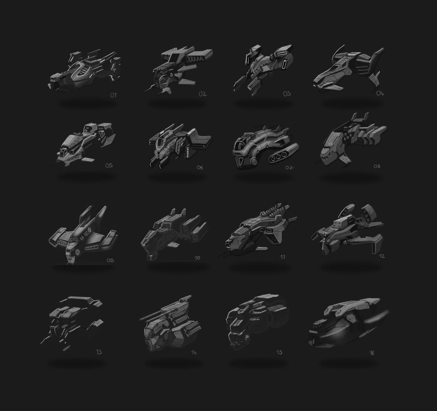 Shape exploration thumbnails.