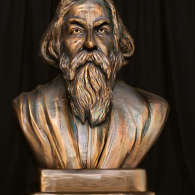Surajit sen tagore digital sculpture surajitsen april2021a l