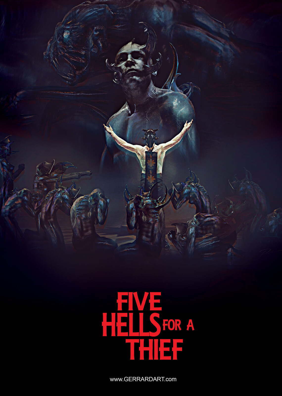 Title:  FIVE HELLS FOR A THIEF Feature film. HORROR Status:  Ready to move into  principal photography. Email  to request pitch deck.