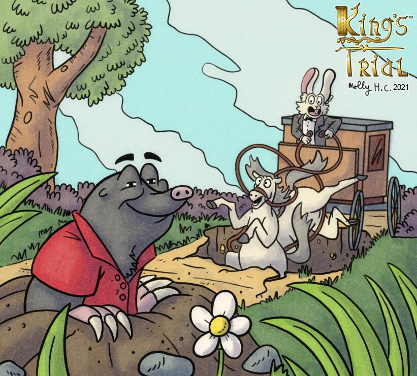 King's Trial: Sinkhole card illustration (2020)
