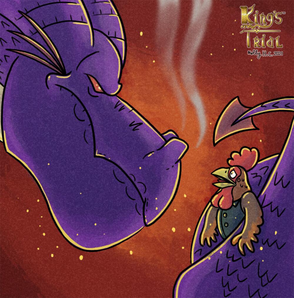 King's Trial: Captured! card illustration (2020)