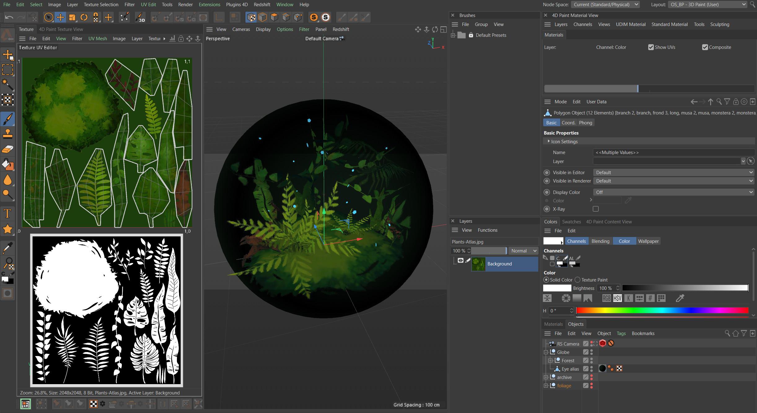 Blog post: Process / mini-tutorial: Making an eye-forest in Cinema 4D https://www.artstation.com/natureintheory/blog/L3ZR