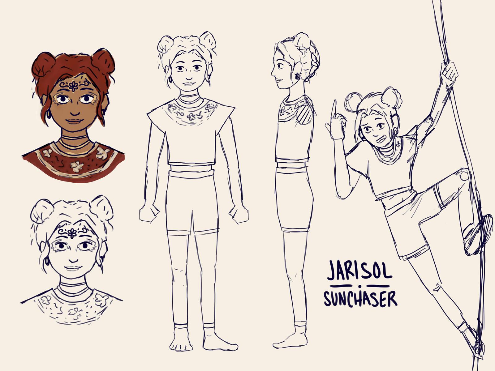 Initial character design