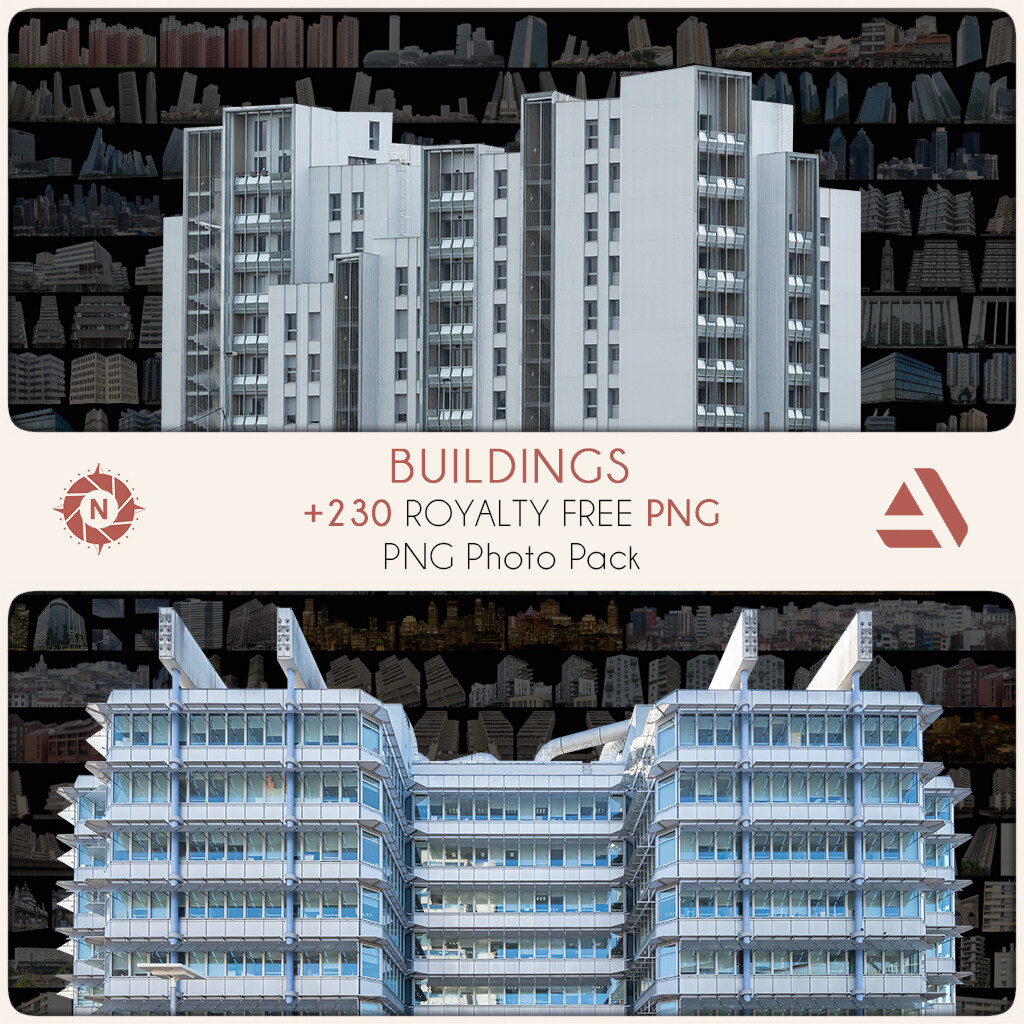PNG Photo Pack: Buildings  https://www.artstation.com/a/5405434