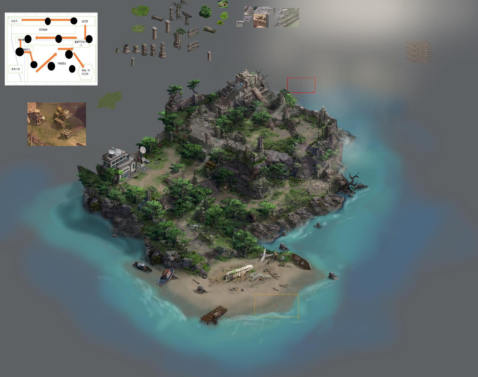 RPG map Design