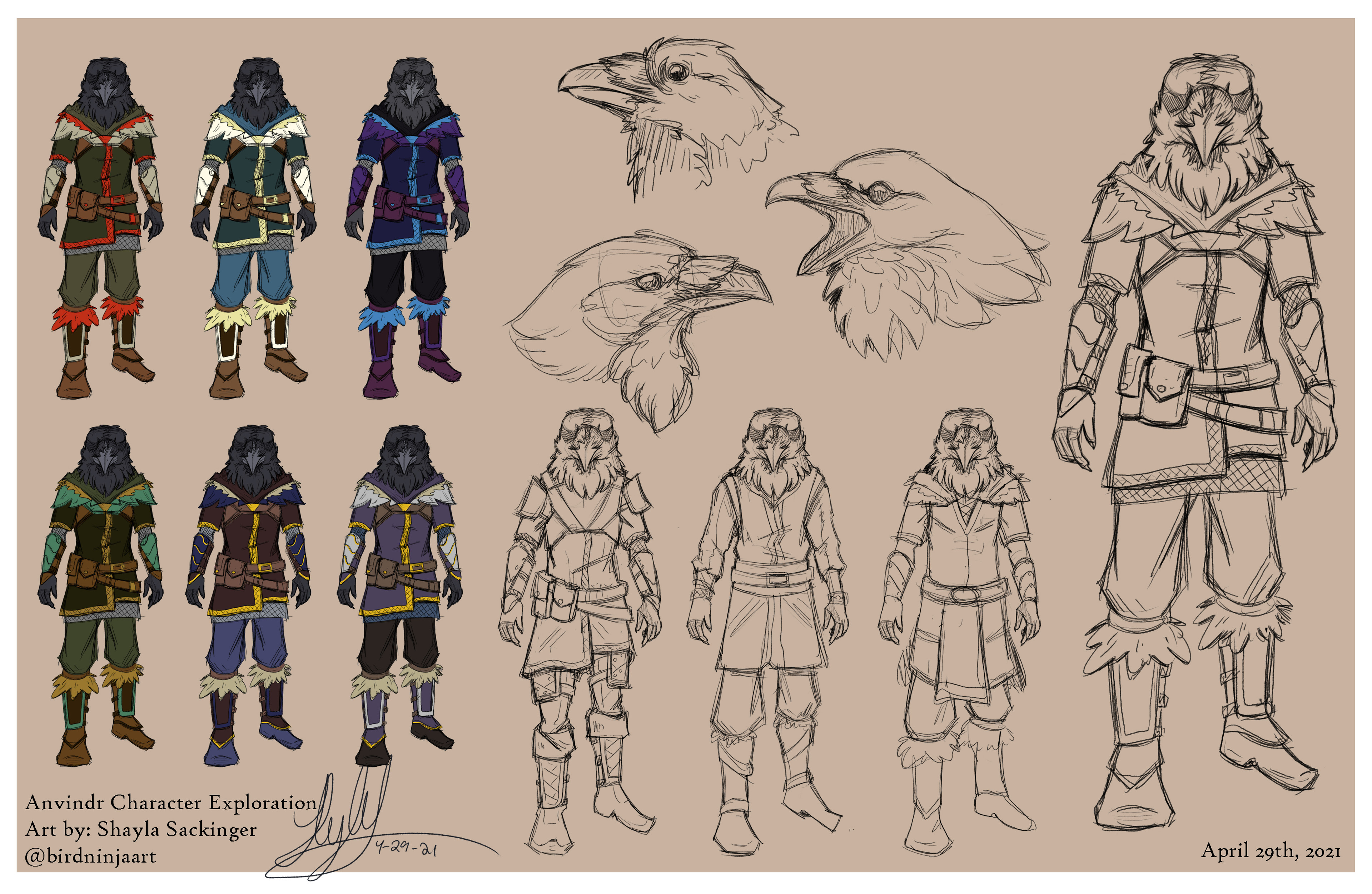Exploration of armor and color schemes.