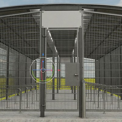 Dennis haupt 3dhaupt lockable bicycle shelters version 2 modelled textured and animated by 3dhaupt in blender 2 92 12