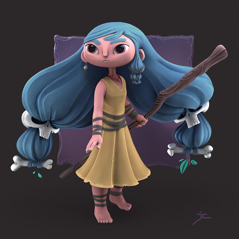 Rancel's Blue Haired Warrior