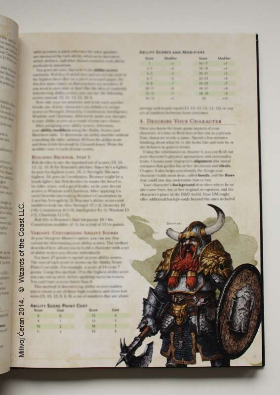 illustration published in D&D Next, 5th Edition, Player's Handbook