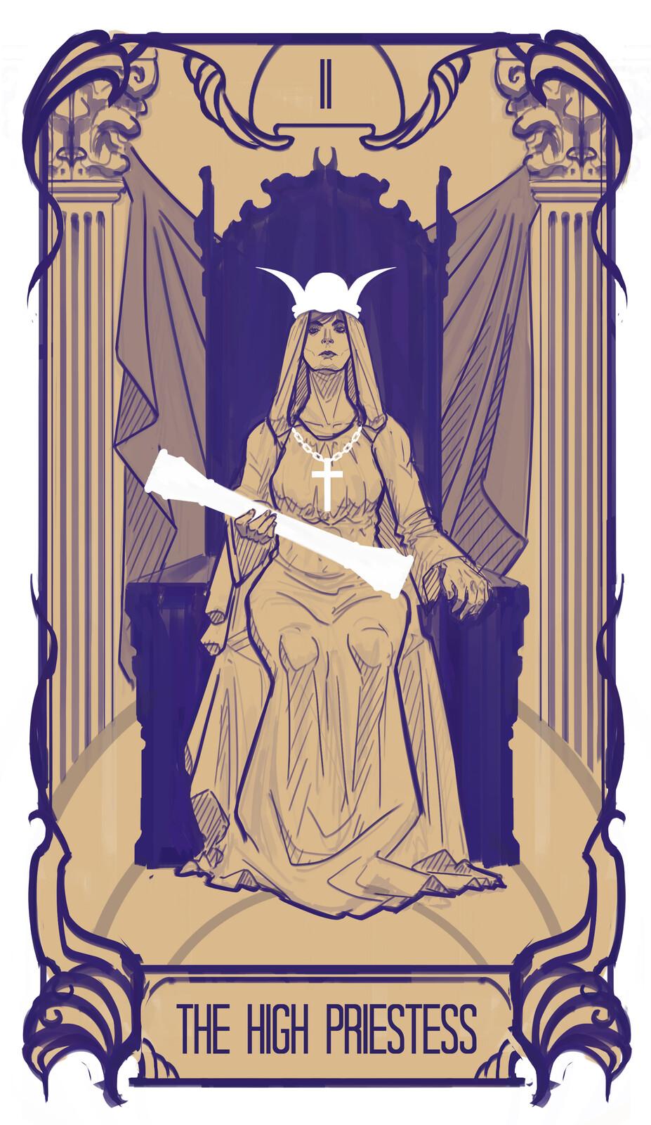 2. The high priestess