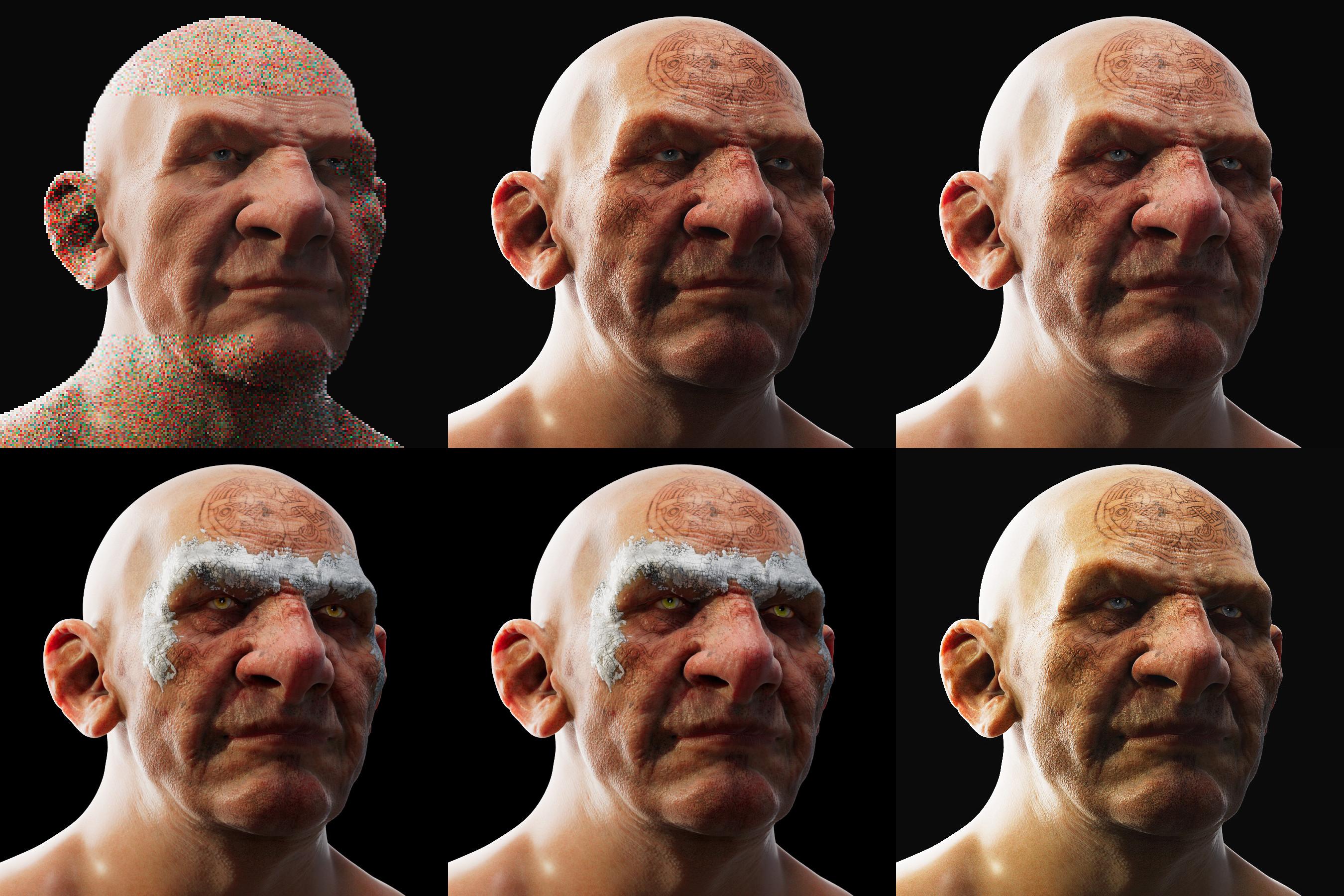 Skin Shader Tests