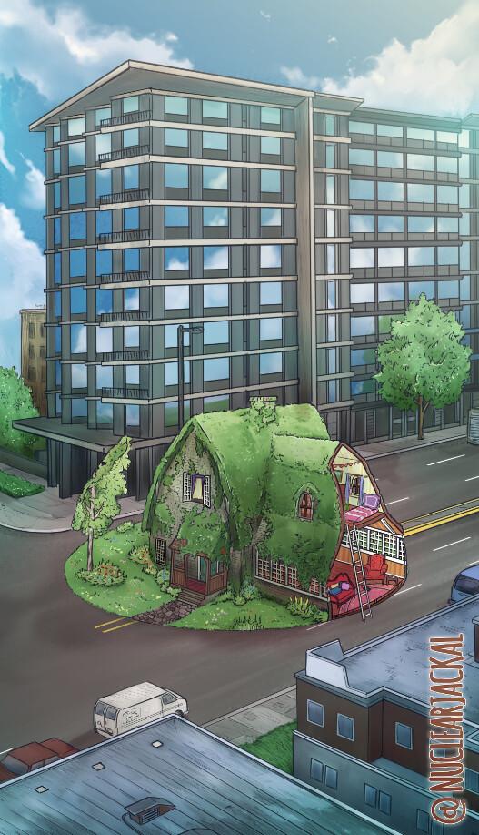 Sliced House