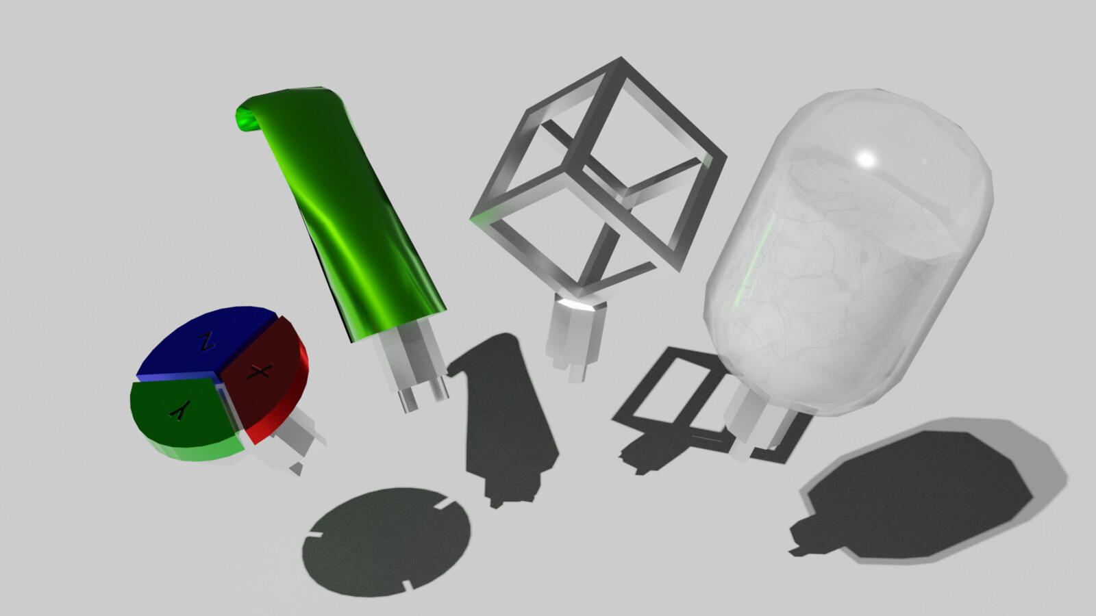A render of the plug items used in the game