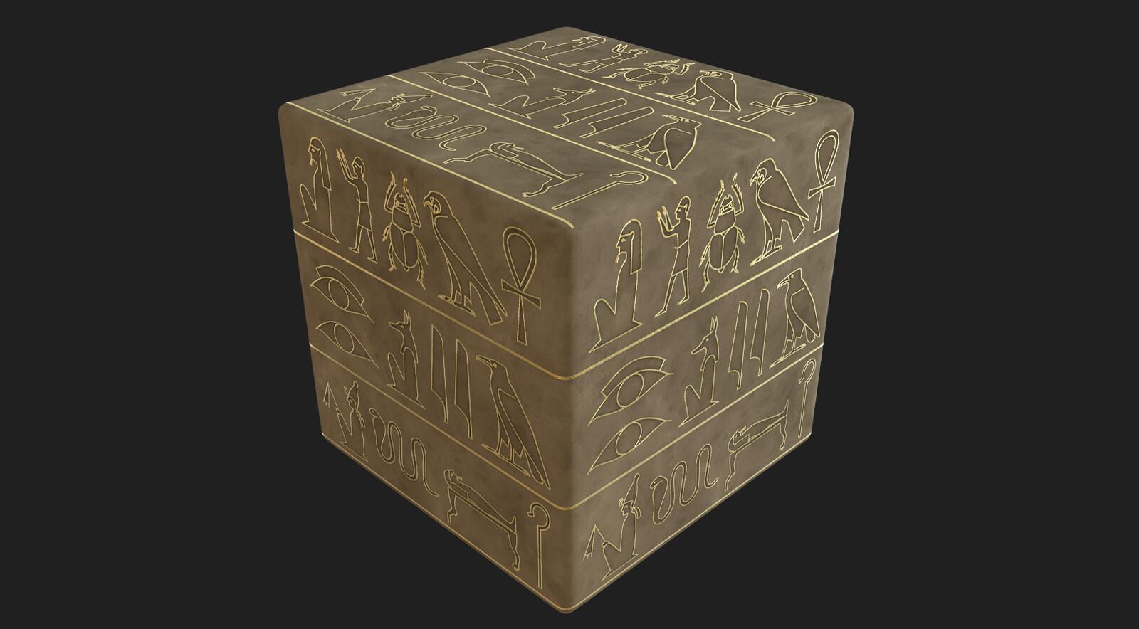 Hieroglyph material