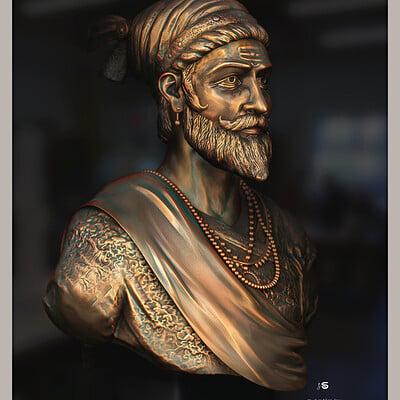 Surajit sen chhatrapati shivaji maharaj digital sculpture look2 surajitsen april2021a l