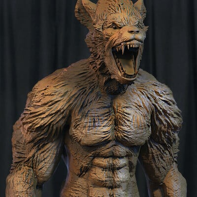 Surajit sen werewolf digital sculpture surajitsen april2021a closed