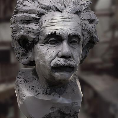 Surajit sen albert einstein digital sculpture may2021al