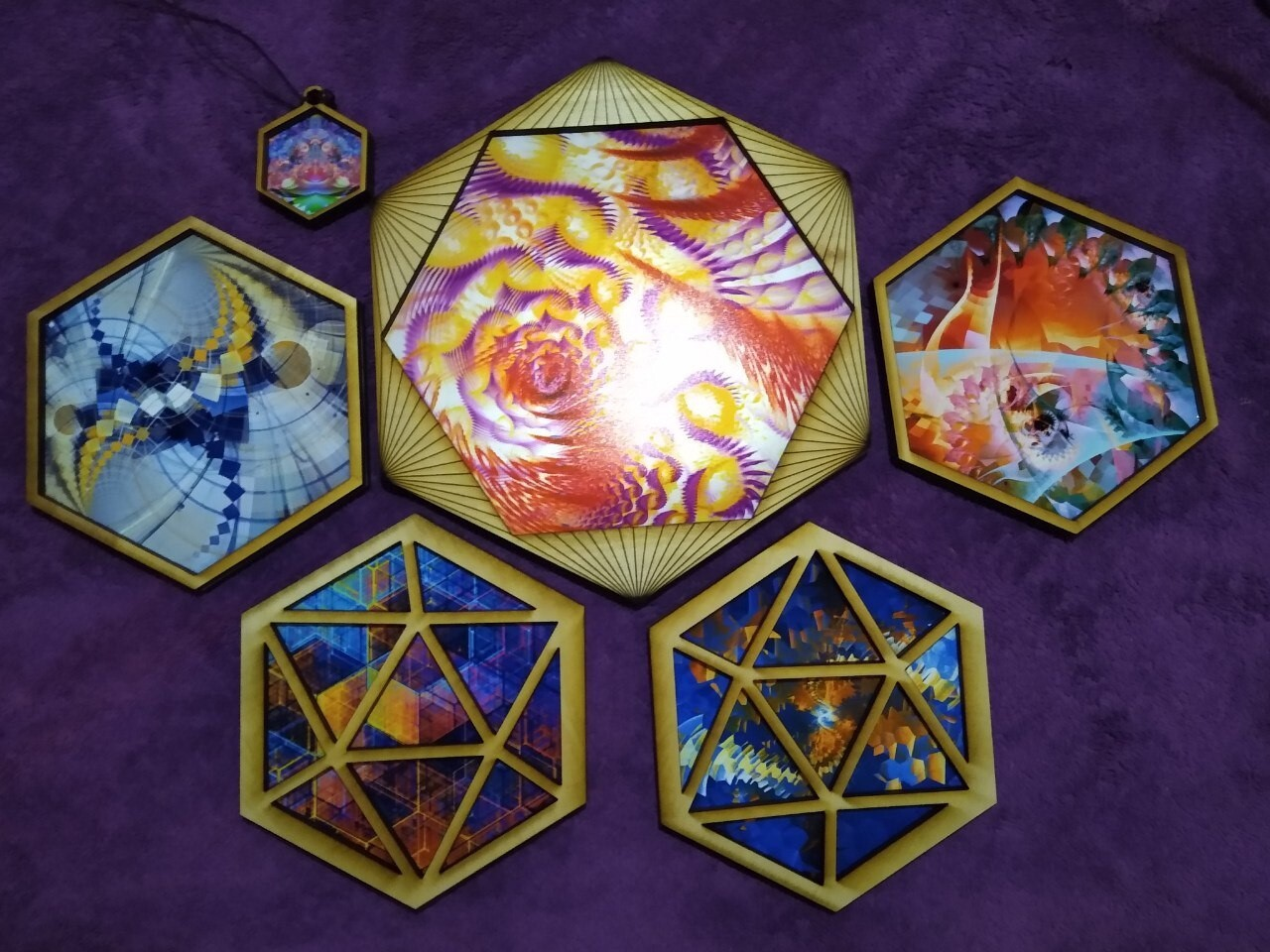 Hex Frames of various sizes.