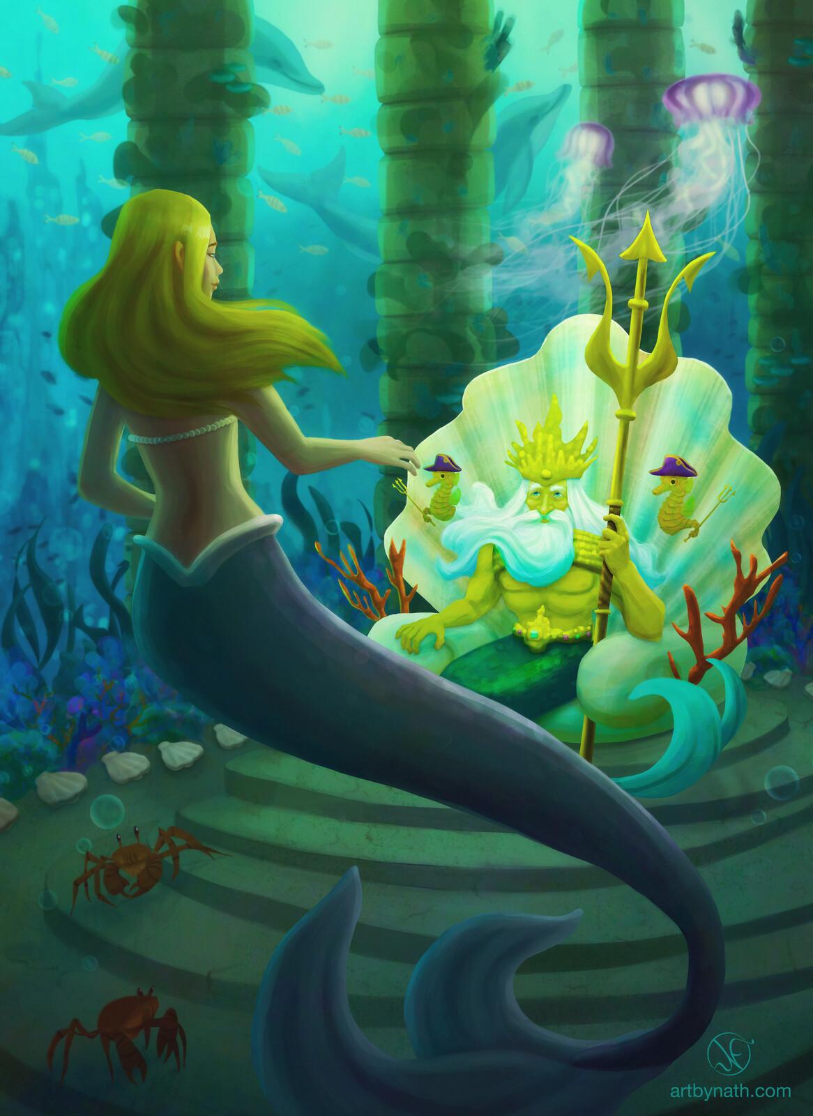 The Little Mermaid Book Illustration