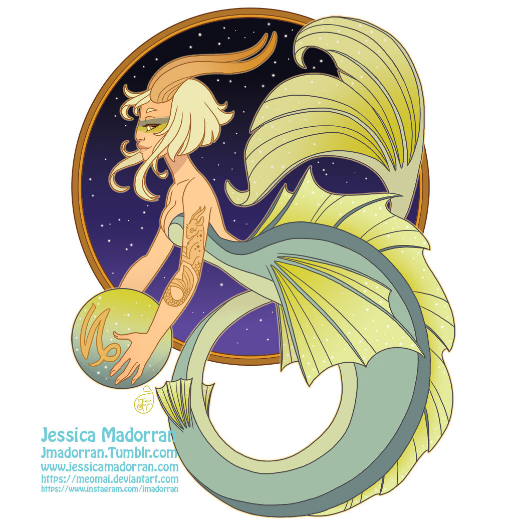 Patreon - May 2021  - Zodiac Mermaid- Capricorn
